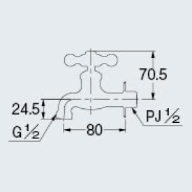 カクダイ 701-024-13 横水栓//ブロンズ