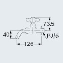 カクダイ 701-302-13 ガーデン用水栓