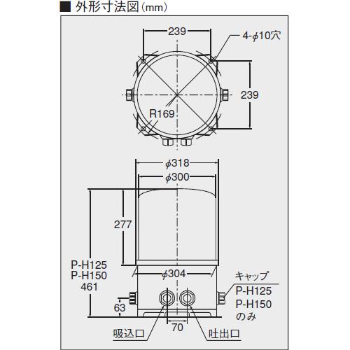 ケーピーエス工業 P-H150S 浅井戸用自動ポンプ [60hz][単相100V][出力150W] (旧三洋電機)