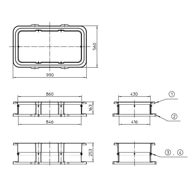 タキロンシーアイ グリーストラップ 嵩上げ GTカサアゲ スライド式 100×160-250H 商品コード 292665