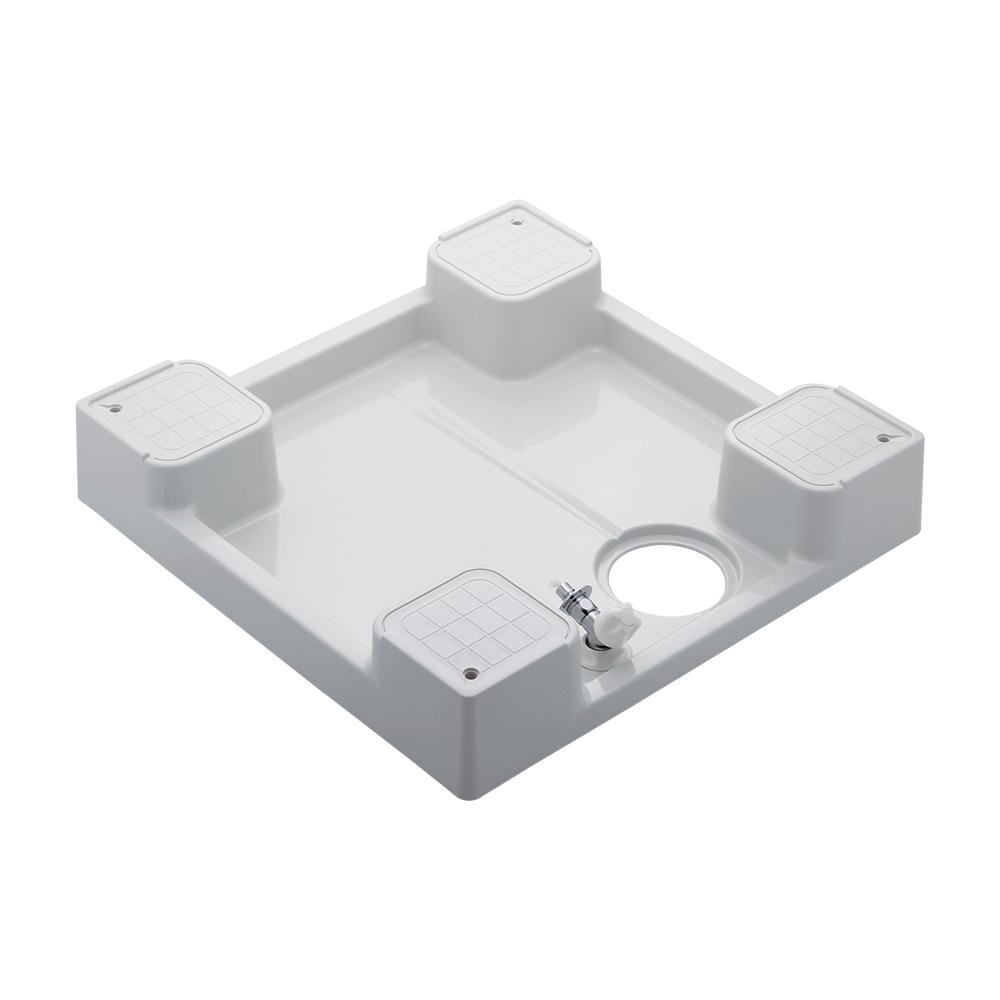 カクダイ 426-501K-W 洗濯機用防水パン(水栓付き)