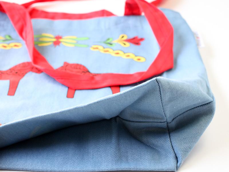 ダーラナホース柄 コットントートバッグ ブルー