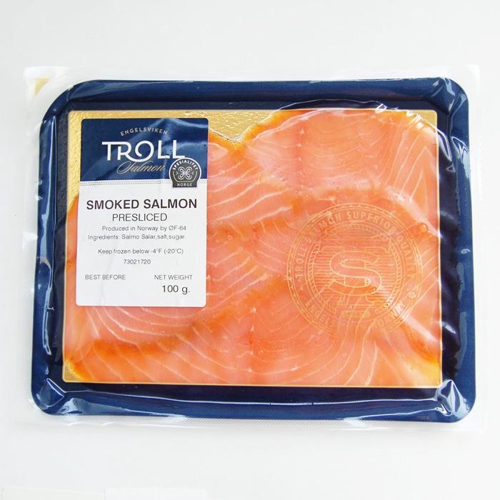 Troll スモークサーモン 100g ノルウェー産