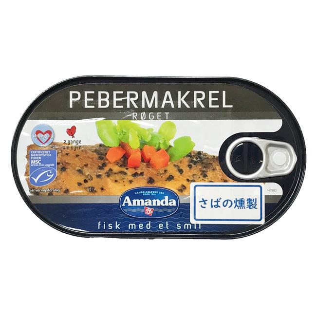 【缶つぶれ】Amanda ペッパードマッケレル(さばの燻製コショウオイル漬け) 190g