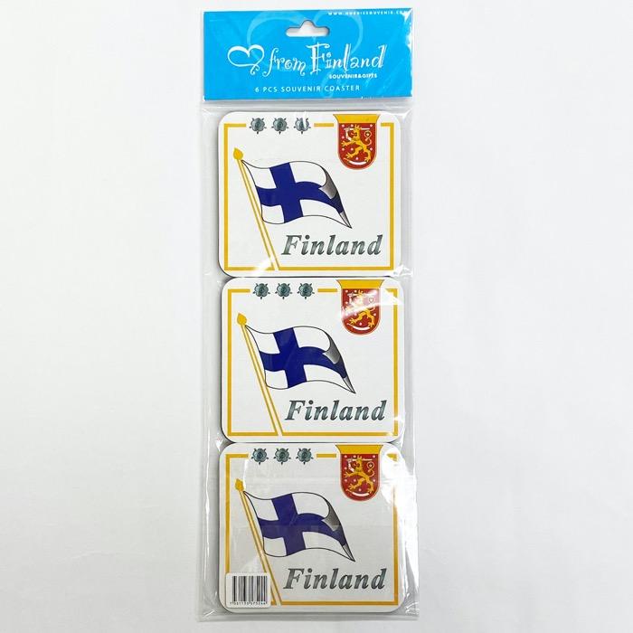 北欧お土産 コースター 6枚セット フィンランド