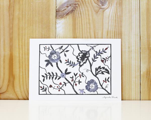 アグネータ・フロック ポストカード インディゴの花 (Indigo)