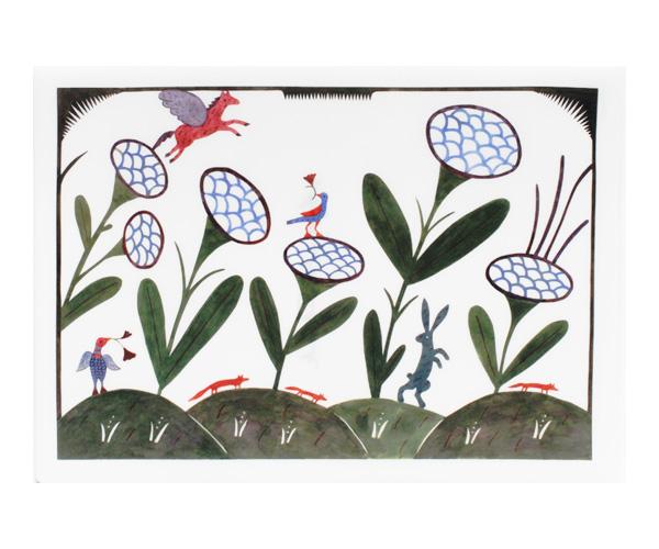 アグネータ・フロック クリアファイル 「花の中で Among Flowers」 【A4】