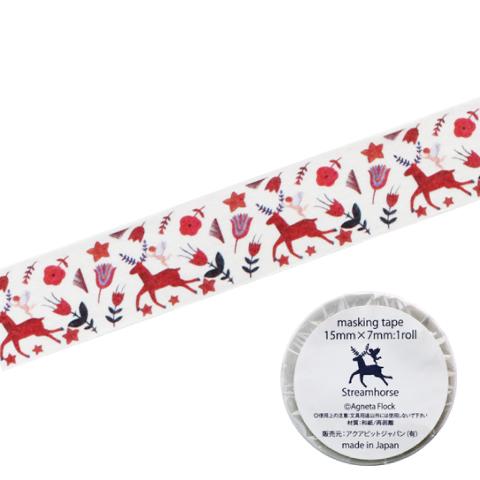 アグネータ・フロック マスキングテープ ストリームホース(Stream Horse)