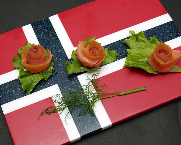 国旗プレート (ノルウェー/アイスランド)