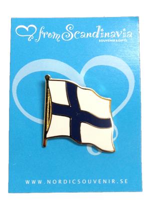 FINLAND国旗ピンバッジ