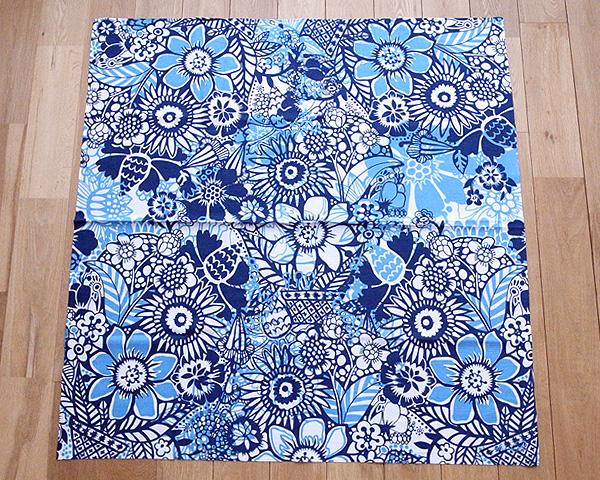 コトノワ×ヘイニ・リータフフタ 風呂敷 エル・ブルー 100×100cm