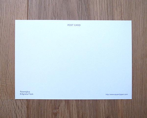 アグネータ・フロック ポストカード バラとユニコーン (Rosengava)