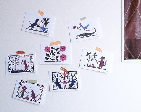 アグネータ・フロック ポストカード 玉ねぎの箱 (Lokladan)