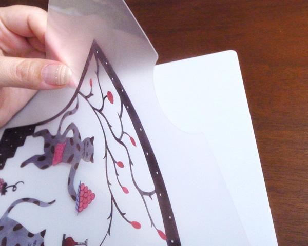 アグネータ・フロック クリアファイル 「猫のレストラン Cat Resaurant」 【A4】