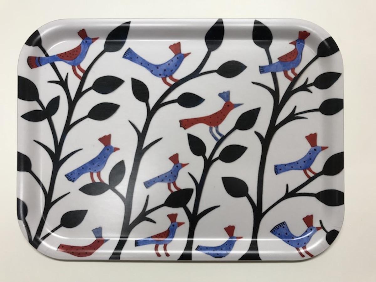 アグネータ・フロック 樺トレー Birds デザイン:Agneta Flock