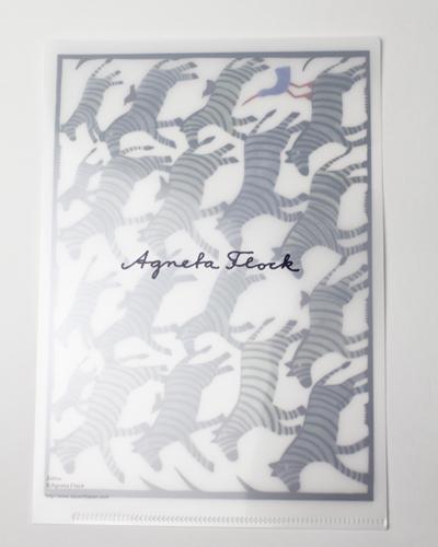 アグネータ・フロック クリアファイル 「ゼブラ Zebra」 【A5】