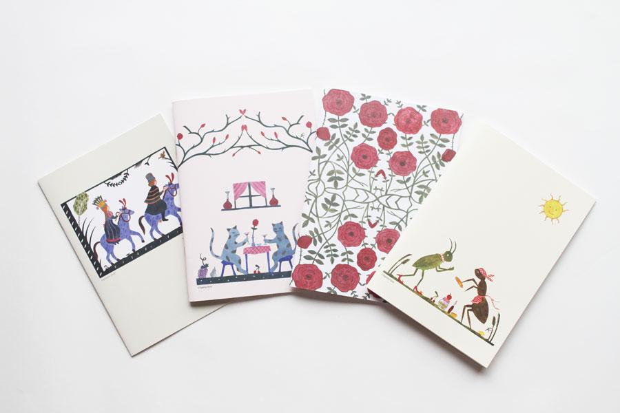 アグネータ・フロック オリジナルノート アリとキリギリス(A5/64P)【メール便対応】