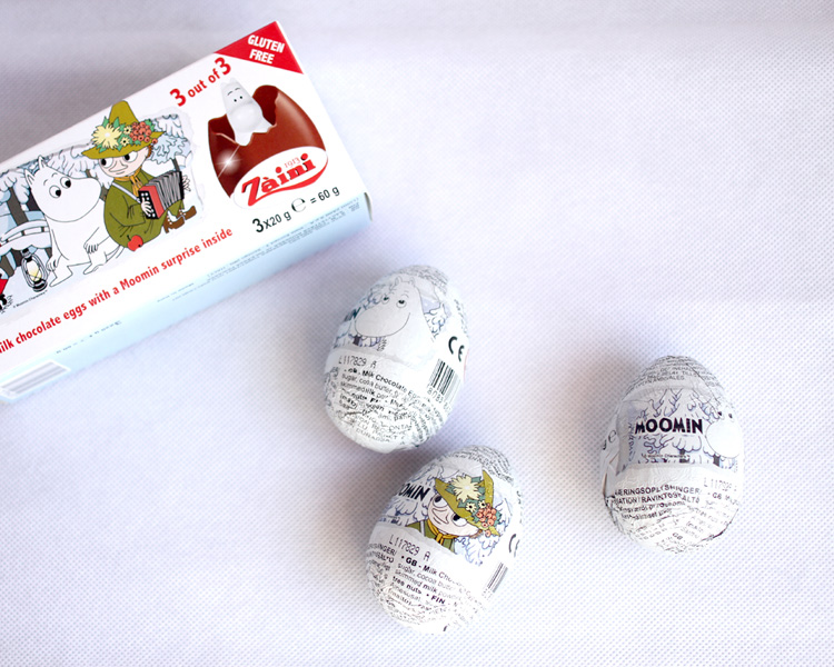 Zaini ムーミン チョコレートエッグ フィギュア付き