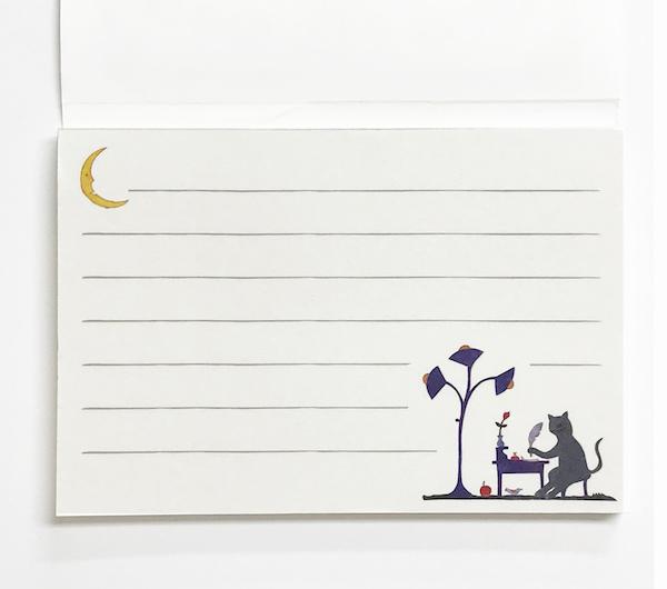 Agneta Flock 一筆箋「猫の事務員」