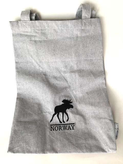 ノルウェー エルク柄 トートバッグ(リサイクル) グレイ