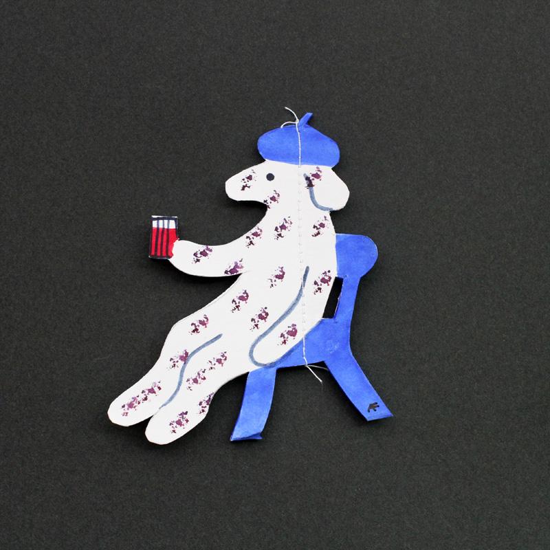 Agneta Flock(アグネータ・フロック) 切り絵モビール 犬