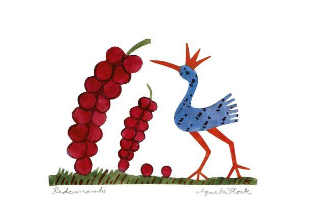 アグネータ・フロック ポストカード 6枚セット2020年(Red book, Bedtime story, Delicious, Body joy, Celebration, Red currant))