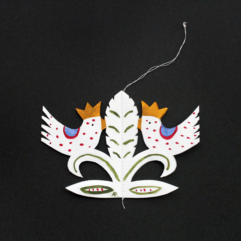 Agneta Flock(アグネータ・フロック) 切り絵モビール 鳥