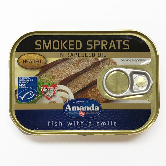 Amanda ヨーロピアンスプラッツの燻製オイル漬け 110g