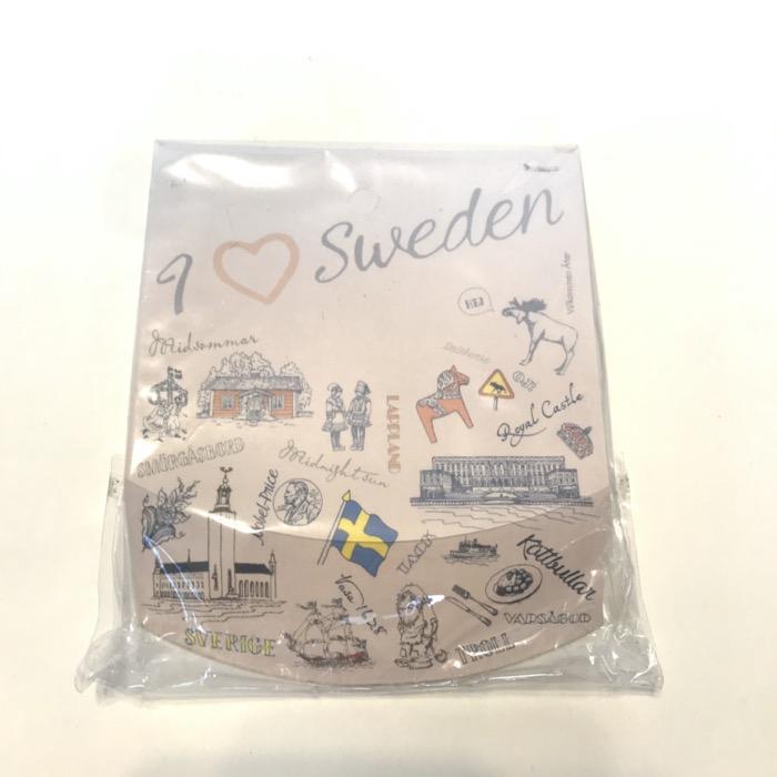 北欧お土産 メモパッド I love Sweden