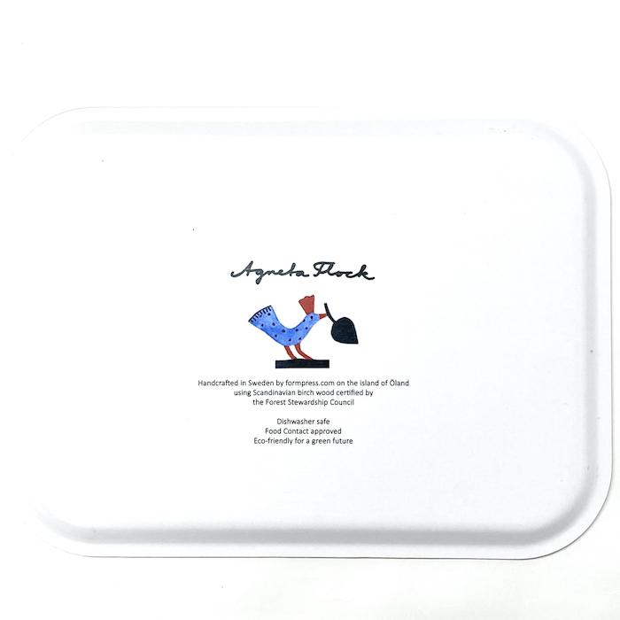 アグネータ・フロック 樺トレー うさぎのパーティ デザイン:Agneta Flock