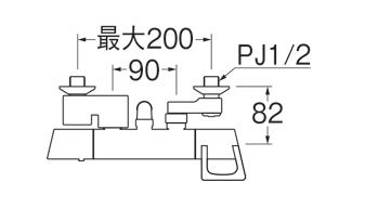 【シャワー混合栓】SK1814-N-13 | SANEI