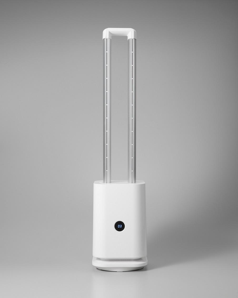 空気清浄機能付 羽なし扇風機 ツインエアーファン 2色 クレスター