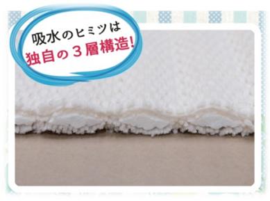 【業務用足拭きマット】吸水名人サラサラマット 3色×4サイズ  フェデポリマーブル