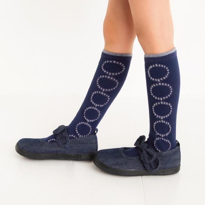 サークルハイソックス 2足組 靴下 くつ下 キッズ 子供