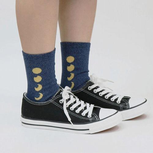 stample スタンプル ムーンスタークルーソックス3足組 靴下 くつ下 キッズ 子供 親子お揃い