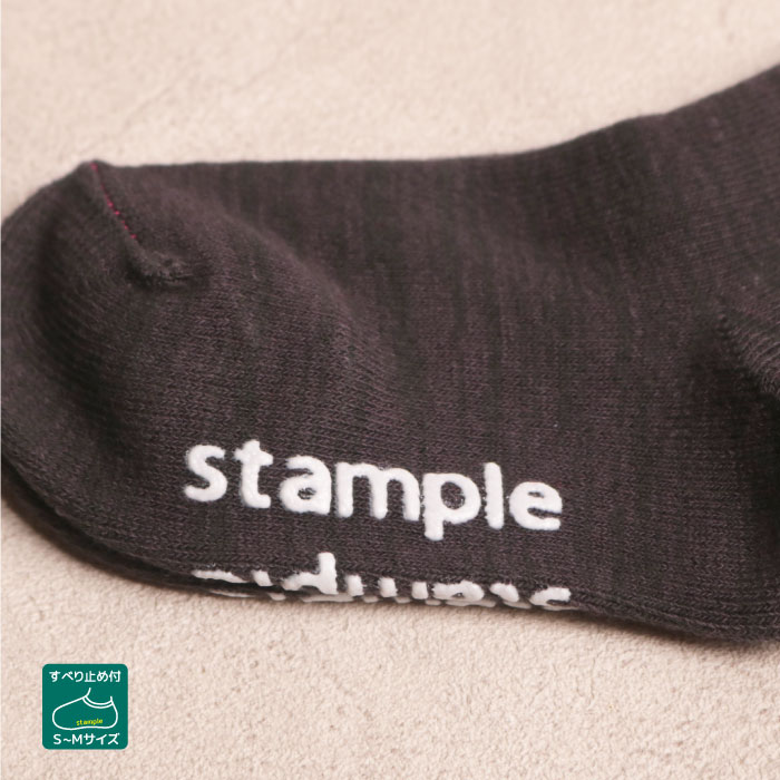 stample スタンプル キャンプパターンクルーソックス3足組 靴下 くつ下 キッズ 子供 親子お揃い