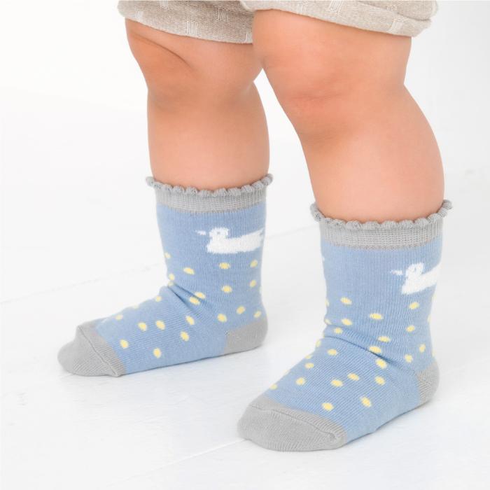 stample スワンベビークルーソックス3足組 靴下 くつ下 キッズ 子供