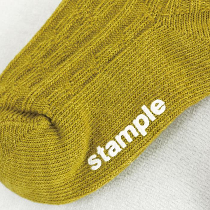 スタンプル stample ケーブルリブ クルーソックス