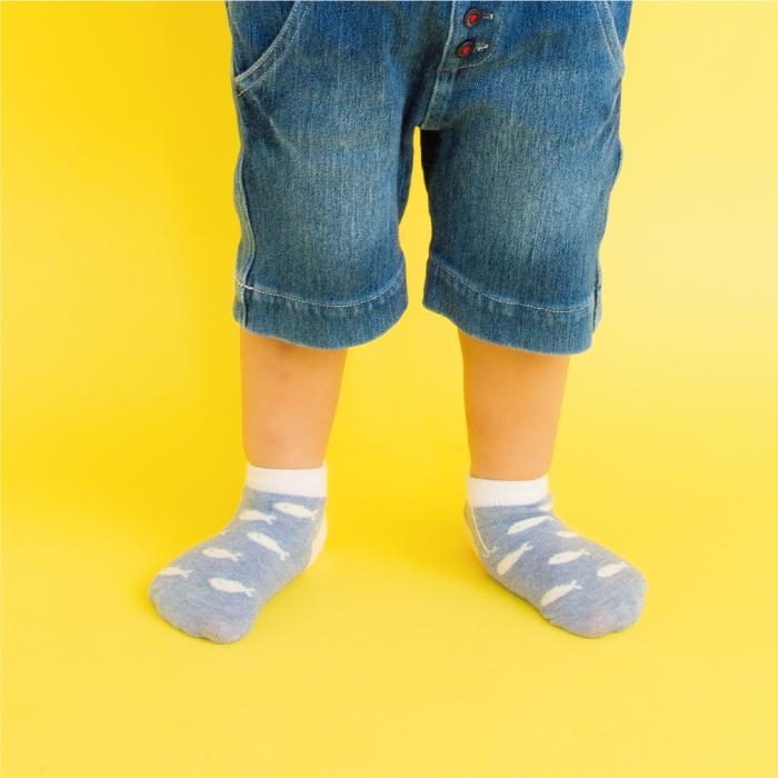 stample アウトドア柄ベビーアンクルソックス3足組 靴下 くつ下 キッズ 子供