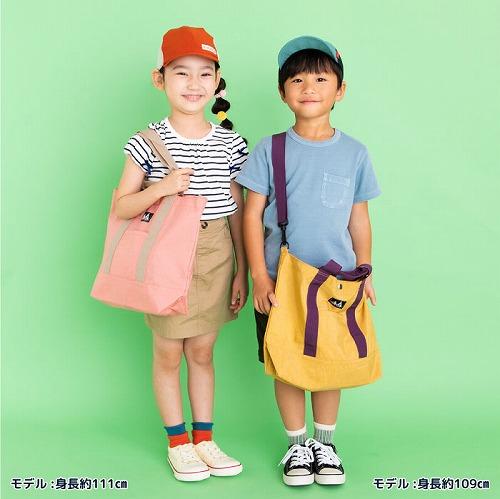 スタンプル stample ウォッシュドナイロン ショルダー付きトートバッグ レッスンバッグ かばん カバン キッズ 子供 入園 入学 幼稚園 保育園 小学校 男の子 女の子 ピンク