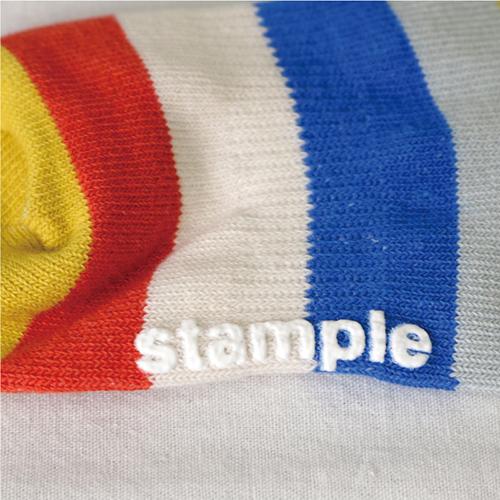 stample スタンプル オレンジボーダーアンクルソックス 3足組 靴下 くつ下 キッズ 子供