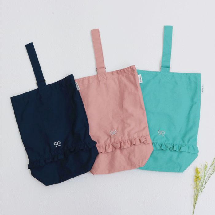 スタンプル stample ガールスシューズバッグ かばん カバン 上靴入れ キッズ 子供 入園 入学 幼稚園 保育園 女の子 ピンク
