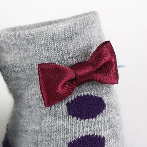 スタンプル stample  日本製 おめかしネコベビー靴下・赤ちゃん靴下・新生児靴下