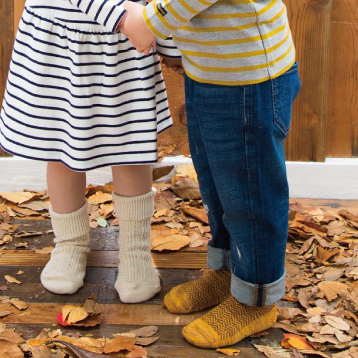 スタンプル stample ヘリンボンショートソックス3足組 靴下 くつ下 キッズ 子供