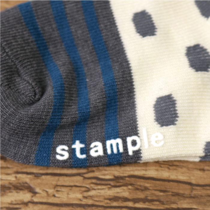 stample スタンプル バスクドットボーダーアンクルソックス 3足組 靴下 くつ下 キッズ 子供