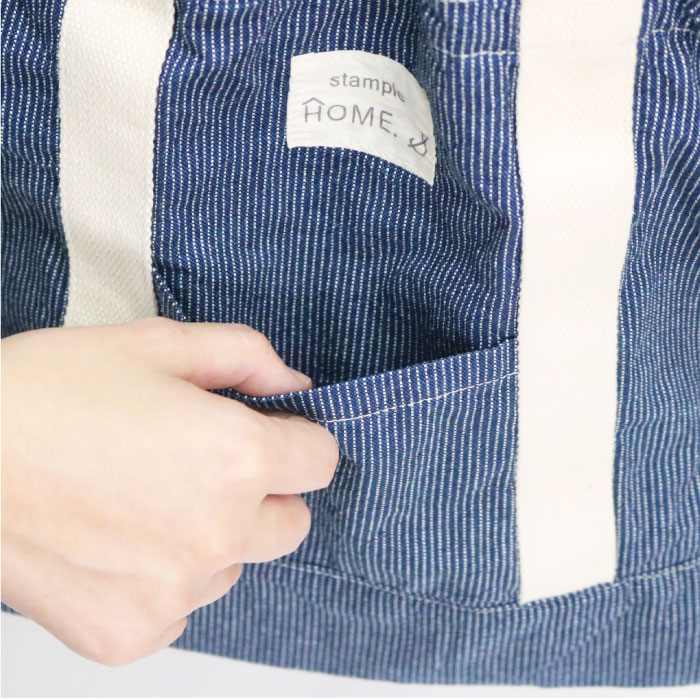スタンプル stample デニムショルダーバッグ レッスンバッグ  かばん カバン キッズ 子供 入園 入学 幼稚園 保育園 小学校 女の子 男の子