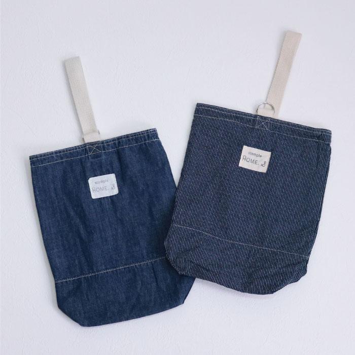 スタンプル stample デニムシューズバッグ かばん カバン 上靴入れ キッズ 子供 入園 入学 幼稚園 保育園 女の子 男の子