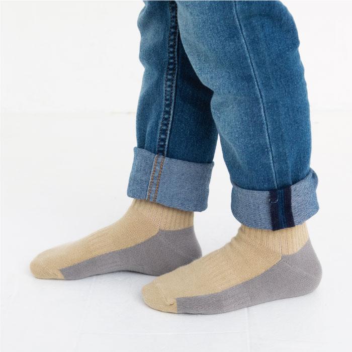 スタンプル stample くすみリブアンクルソックス 3足組 子供 靴下 キッズ
