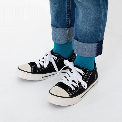 stample スタンプル チラ見せ アクセント ショートソックス 3足組 靴下 くつ下 キッズ 子供 親子お揃い