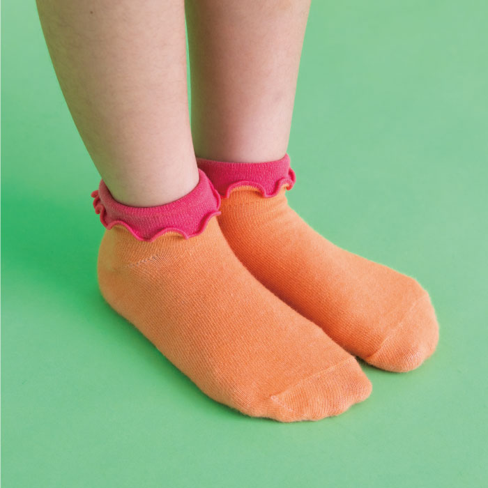 stample スタンプル 折り返しメロウアンクルソックス 3足組 靴下 くつ下 キッズ 子供 お揃い